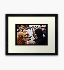 My, what big teeth you have Framed Print