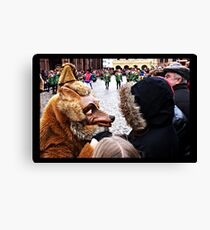 My, what big teeth you have Canvas Print