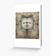 Werner Karl Heisenberg on MDMA Greeting Card