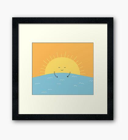 good morning sunshine! Framed Print