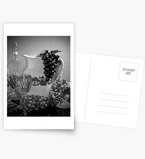 Pottery, Grapes and Wine (Black and White) Postcards