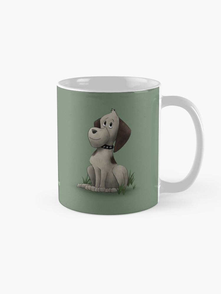 Alternate view of Two Moods of Dog Mug