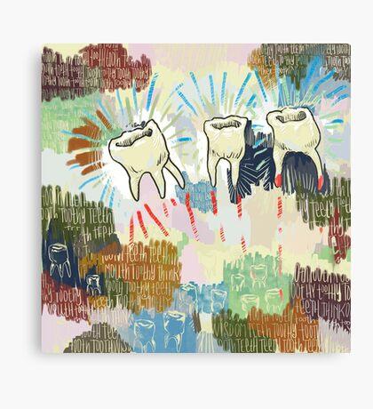 Teethtoothtoothtoothteeth Canvas Print