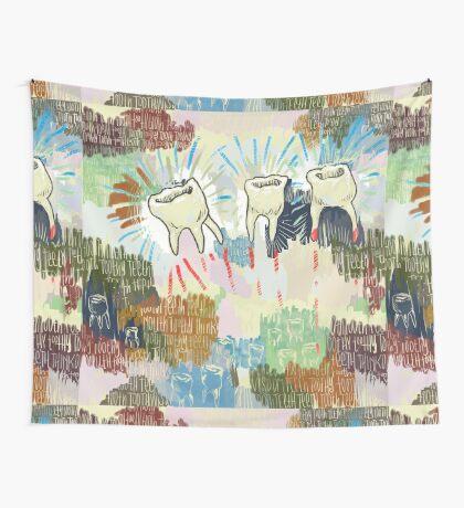 Teethtoothtoothtoothteeth Wall Tapestry