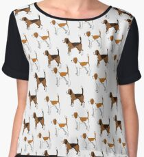 Brown Dogs Chiffon Top