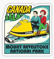 Mount Revelstoke National Park Vintage Travel Decal Sticker