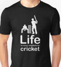 Cricket v Life - White Graphic Unisex T-Shirt
