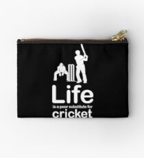Cricket v Life - White Graphic Studio Pouch