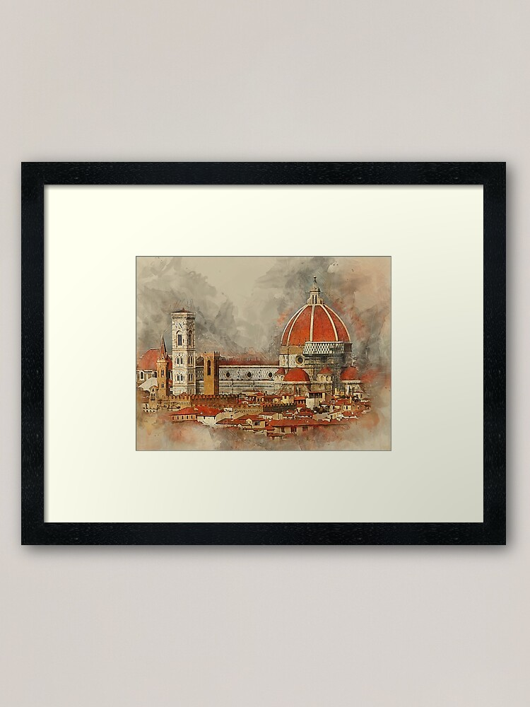 Alternate view of The Duomo in Florence. Framed Art Print