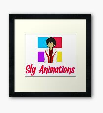 Sly animation Framed Print