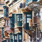 Maltese Balconies by Kasia-D