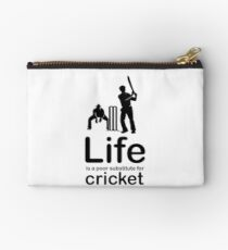 Cricket v Life - Black Graphic Studio Pouch