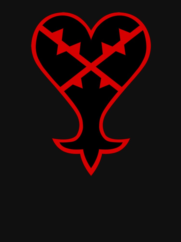 Kingdom Hearts Heartless Emblem Unisex T Shirt By Crimzind Redbubble