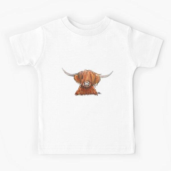 Scottish Hairy Highland Cow ' HARLEY 2 ' by Shirley MacArthur Kids T-Shirt