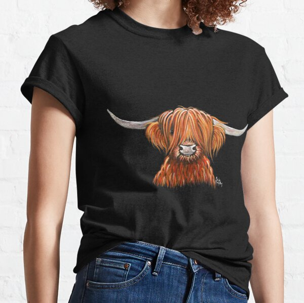 Scottish Hairy Highland Cow ' HARLEY 2 ' by Shirley MacArthur Classic T-Shirt