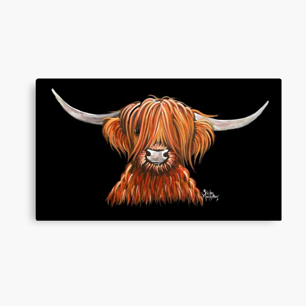 Scottish Hairy Highland Cow ' HARLEY 2 ' by Shirley MacArthur Canvas Print