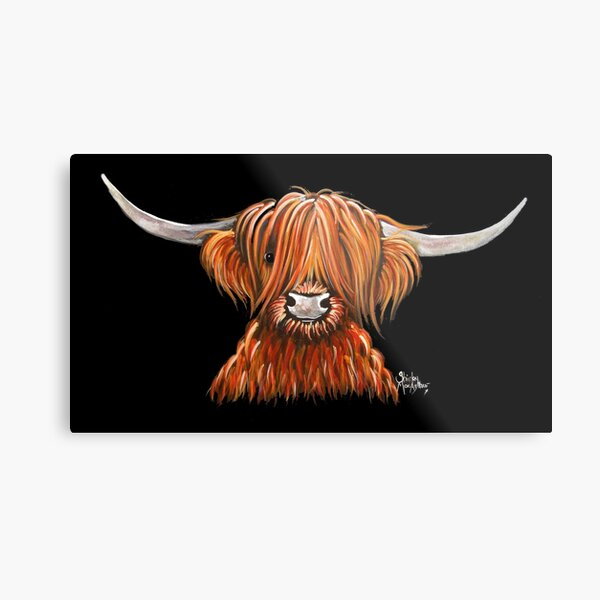 Hier ist ein weiterer meiner Hairy Highland Cow Prints 'HARLEY'.  Ich hoffe du magst ihn!  Ich wünsche Ihnen einen schönen Tag ............. Shirley x Metallbild