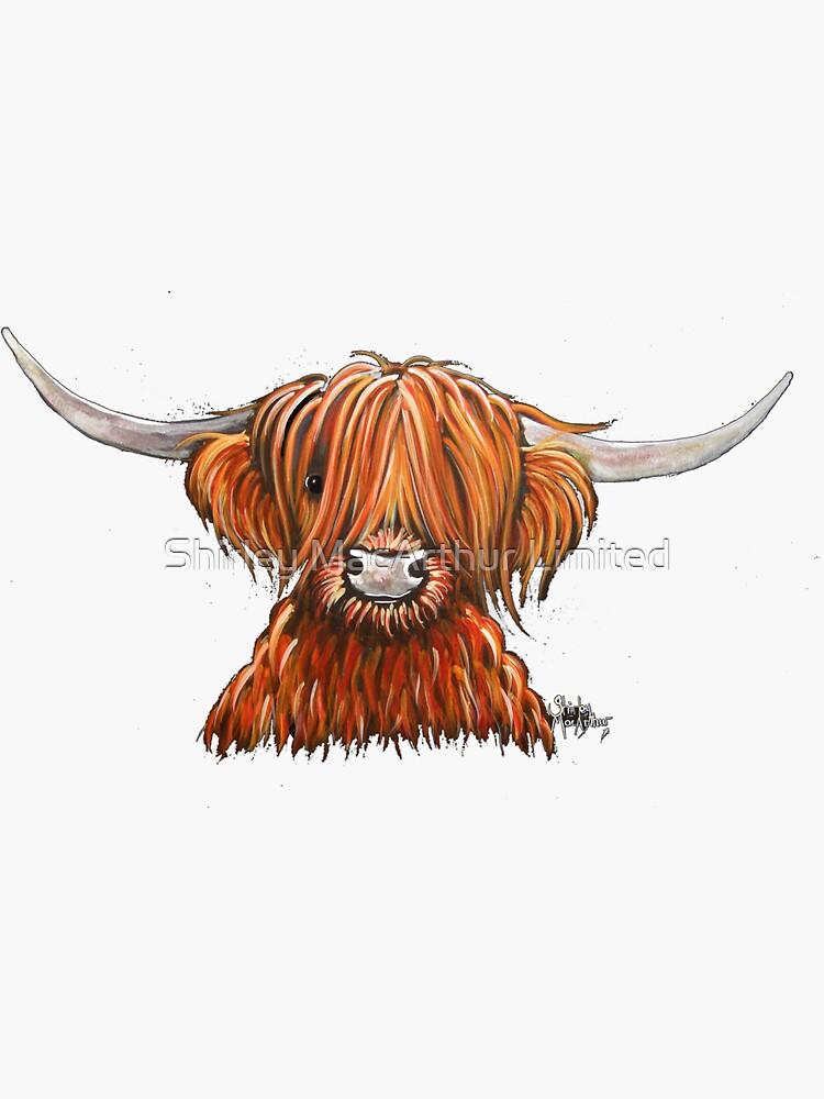 Scottish Hairy Highland Cow ' HARLEY 2 ' by Shirley MacArthur by ShirleyMacA
