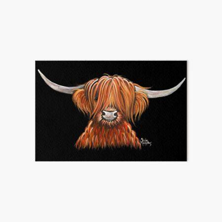 Scottish Hairy Highland Cow ' HARLEY 2 ' by Shirley MacArthur Art Board Print