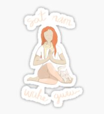Meditando wahe guru Sticker