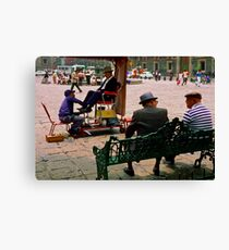 Plaza Shine Canvas Print