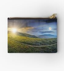path through a meadow on the hillside Studio Pouch
