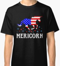 Mericorn American Flag Unicorn  Classic T-Shirt