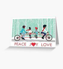 Peace Joy Love Greeting Card