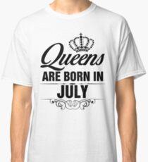 Camiseta clásica Queens nacen en julio