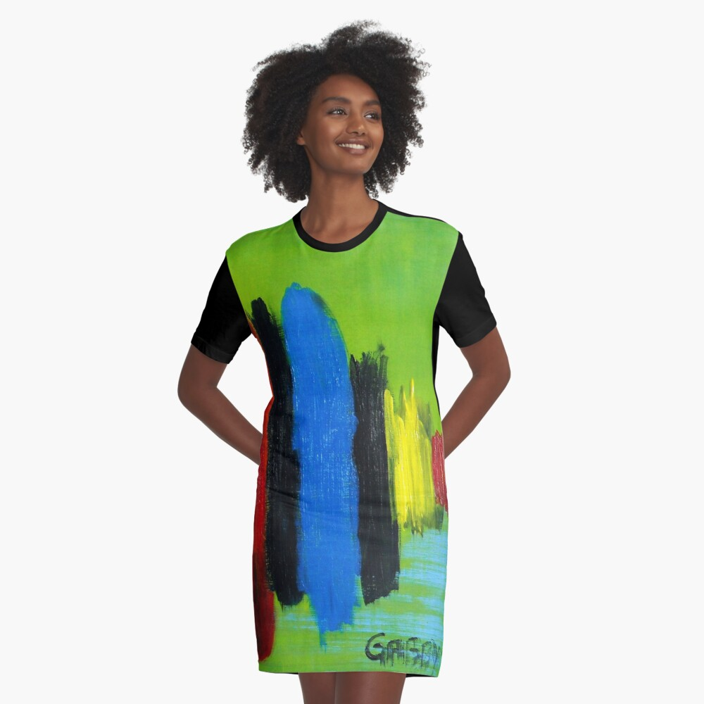 SPINNER Graphic T-Shirt Dress Front