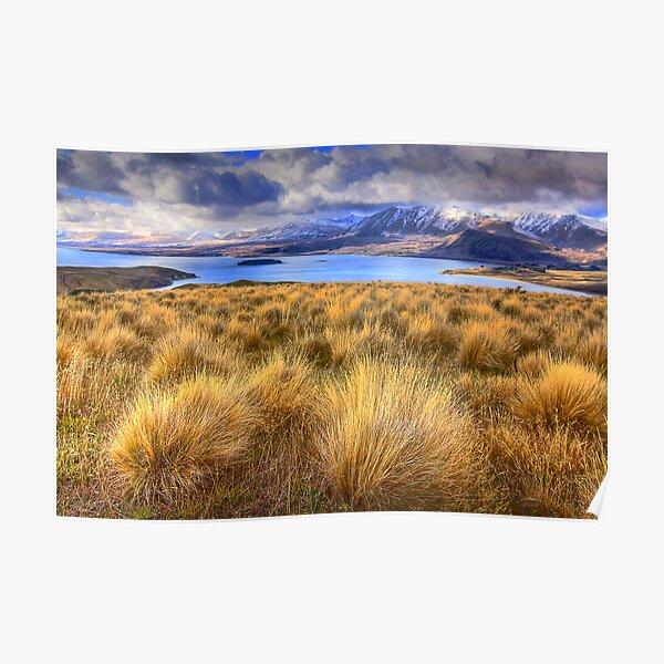 1402 Lake Tekapo from Mt John Poster