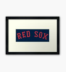 red sox Framed Print