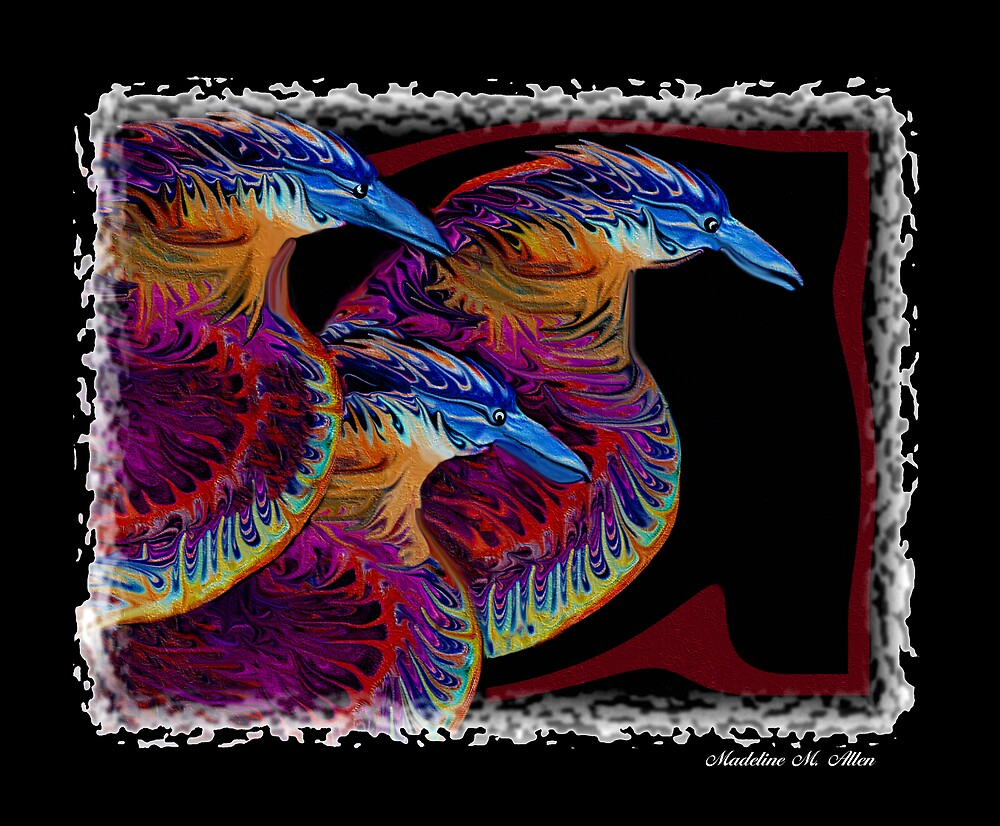 KOOKA BIRDS  by Madeline M  Allen