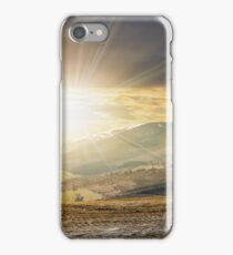 panorama of rural fields in mountains iPhone Case/Skin