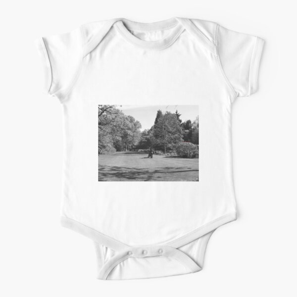 the pleasure of walk in the park Short Sleeve Baby One-Piece