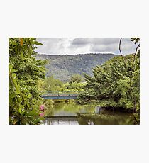 Walking bridge over Port Douglas river Photographic Print