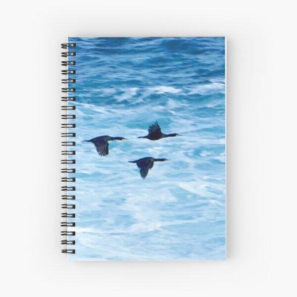 Cormorants  Skimming the Waves off Inishmore Spiral Notebook