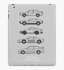 Iconic 80's classic cars outline artwork iPad Case/Skin