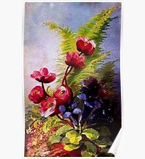Woodland Wildflowers Poster