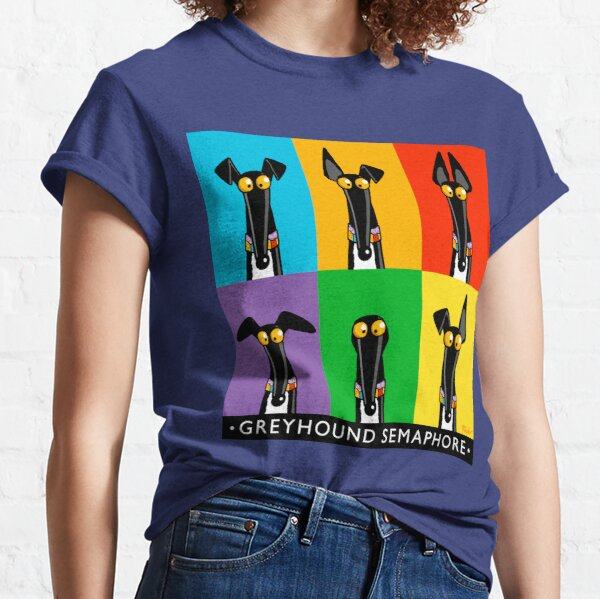 Greyhound Semaphore with title Classic T-Shirt