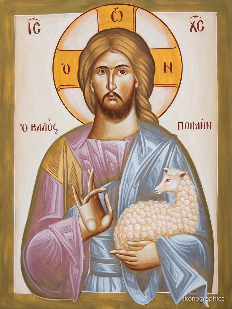 Jesus Christ the Good Shepherd by ikonographics