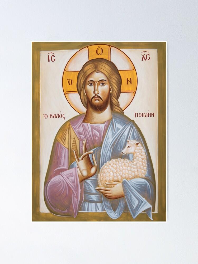 Alternate view of Jesus Christ the Good Shepherd Poster