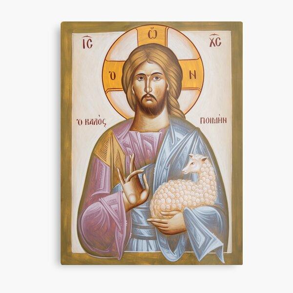 Jesus Christ the Good Shepherd Metal Print