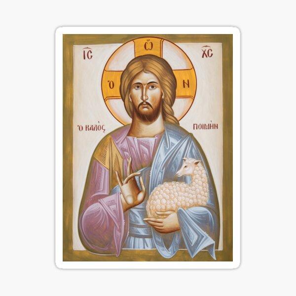 Jesus Christ the Good Shepherd Sticker