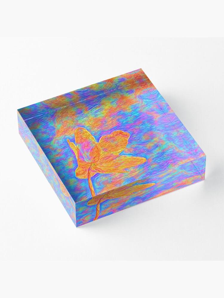 Alternate view of Flower Acrylic Block