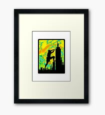 City Heights Framed Print