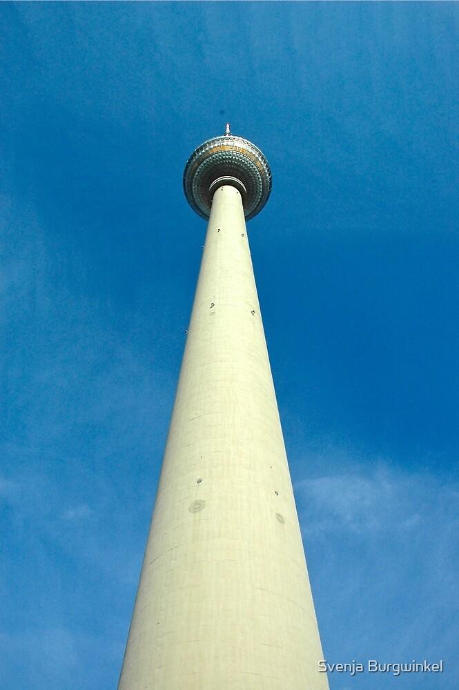 Berlin Funkturm blau by Svenja Burgwinkel