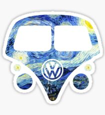 Split Window Kombi - Starry Night Sticker
