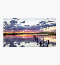Colouful lake sunset Photographic Print