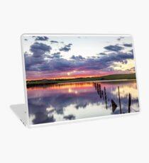 Colouful lake sunset Laptop Skin